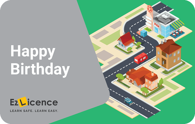 Happy birthday gift cards for driving lessons
