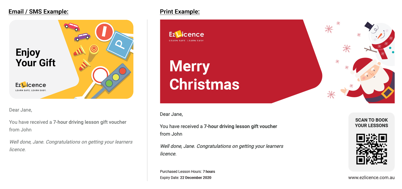 Gift Cards For Driving Lessons Driving Lessons Gift Vouchers Ezlicence